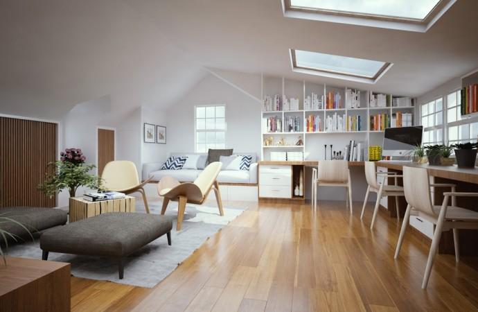 Mobili su misura: arredare la casa mansardata